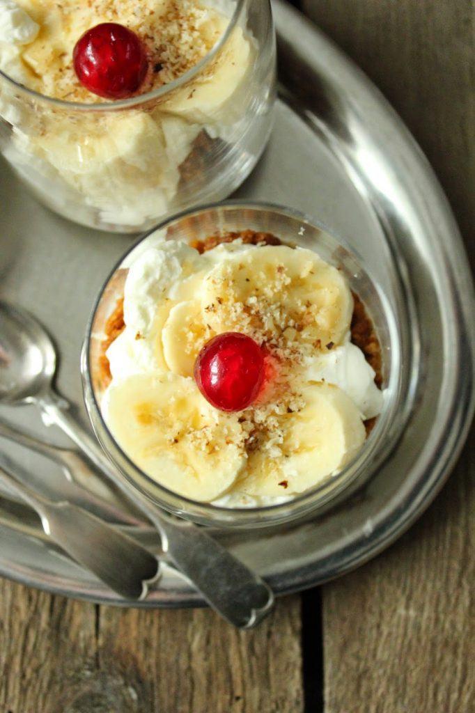Bananen Split Dessert ohne Eis zum Blogevent von Sweets and Lifestyle