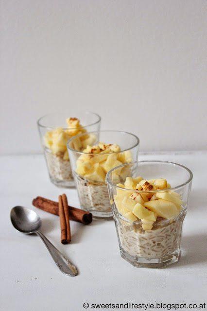 Veganer Milchreis mit Apfel obendrauf noch dazu zuckerfrei von Sweets and Lifestyle