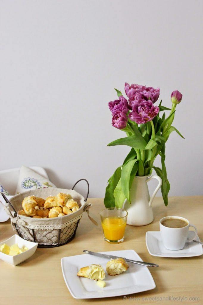 Selbst gemachte Mini-Briochekipferl für das Frühstück am Wochenende von Sweets and Lifestyle