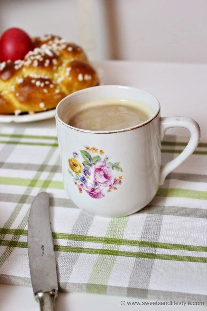 Selbstgemachtes Osternest für den gedeckten Ostertisch bei Sweets and Lifestyle