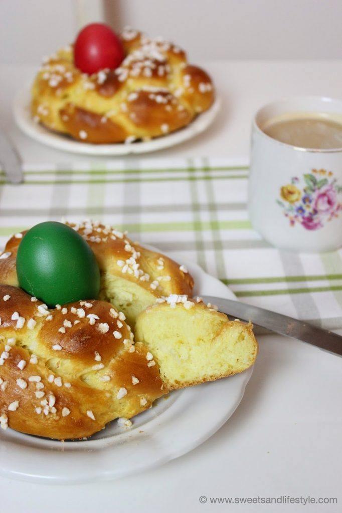 Ein süßes Osternest aus Germteig als Beginn des Osterspecials bei Sweets and Lifestyle