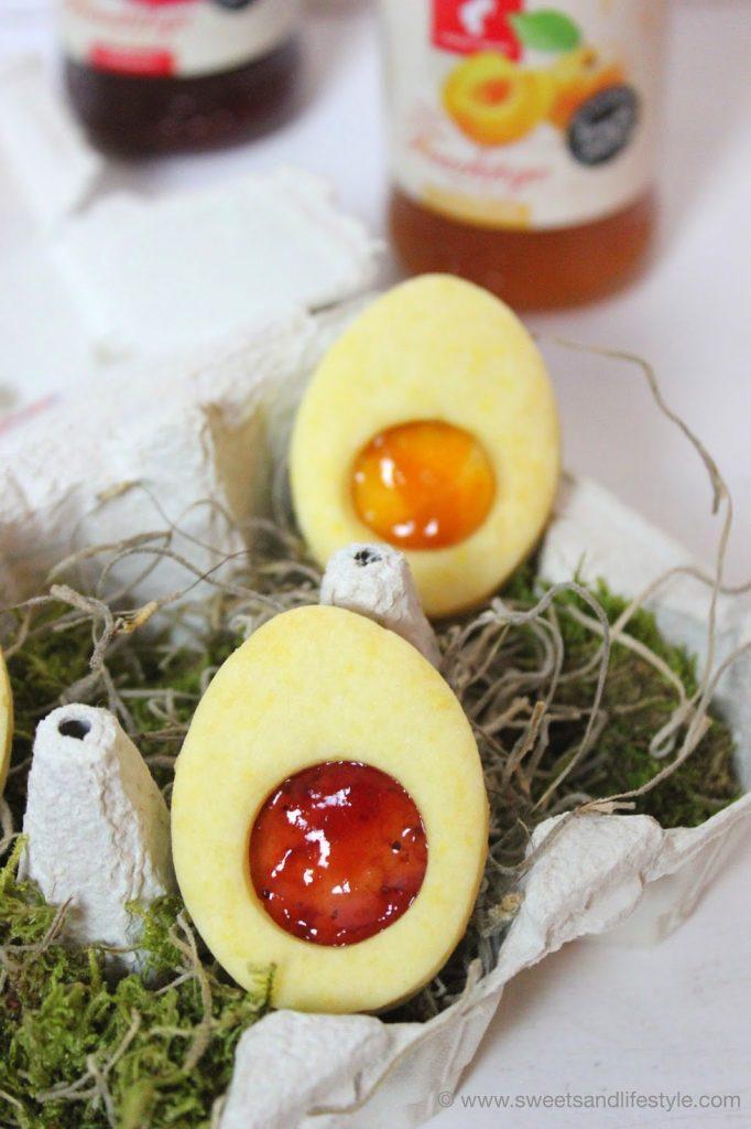 Süße Ostereier aus Mürbteig gefüllt mit Julius Meinl Konfitüre von Sweets and Lifestyle