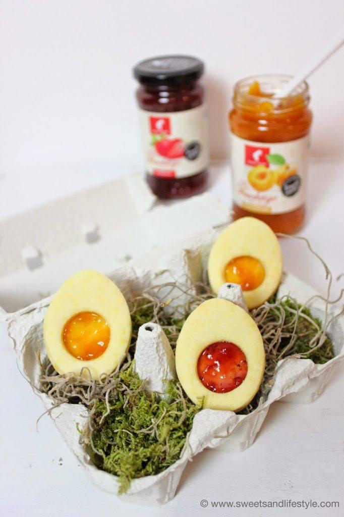 Süße Ostereier gefüllt mit Julius Meinl Konfitüre von Sweets and Lifestyle