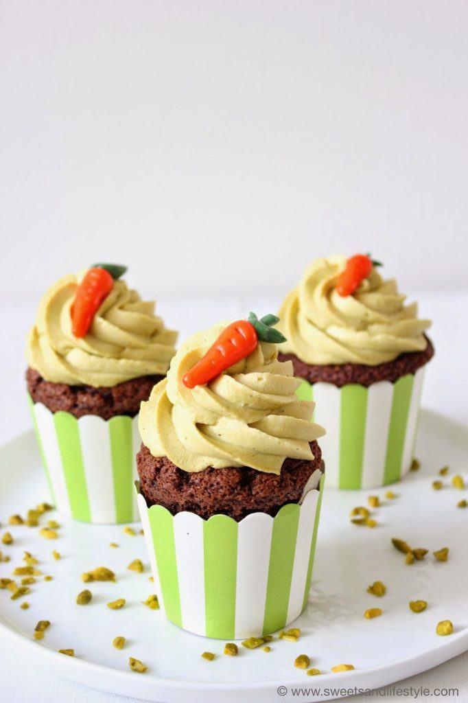 Pisatziencupcakes als österliches Dessert von Sweets and Lifestyle