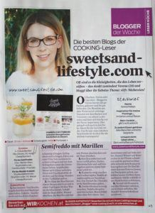 Blogvorstellung Sweets and Lifestyle von Verena Pelikan im Cooking Magazin