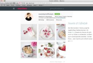 Der Blog Sweets and Lifestyle von Verena Pelikan als Maxima Foodie Lieblingslink