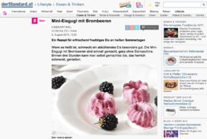 Das Rezept für Mini-Eisgugl mit Brombeeren von Verena Pelikan Autorin des Blog Sweets and Lifestyle auf derStandard.at