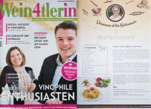 Verena Pelikan Autorin des Blogs Sweets and Lifestyle schreibt eine Rezept Kolumne in der Wein4tlerin