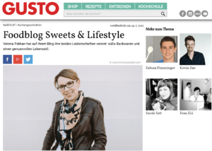 Vorstellung Sweets and Lifestyle im Gusto Magazin