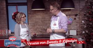 Verena von Sweets and Lifestyle auf ATV bei der Dr Oetker Weihnachtswerkstatt
