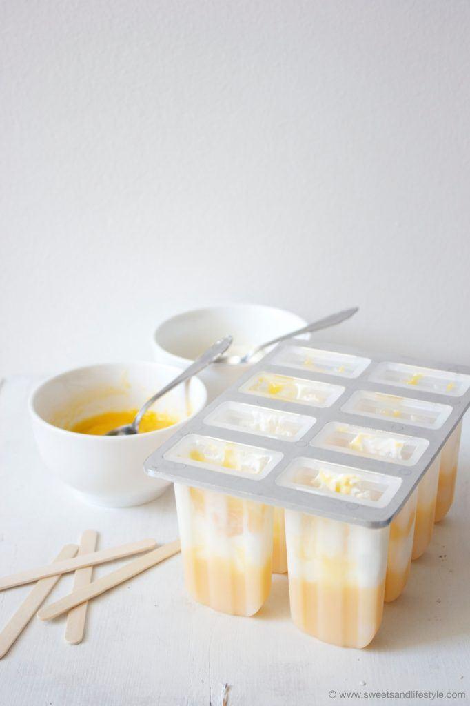 Eis am Stiel mit Mango und Joghurt von Sweets and Lifestyle