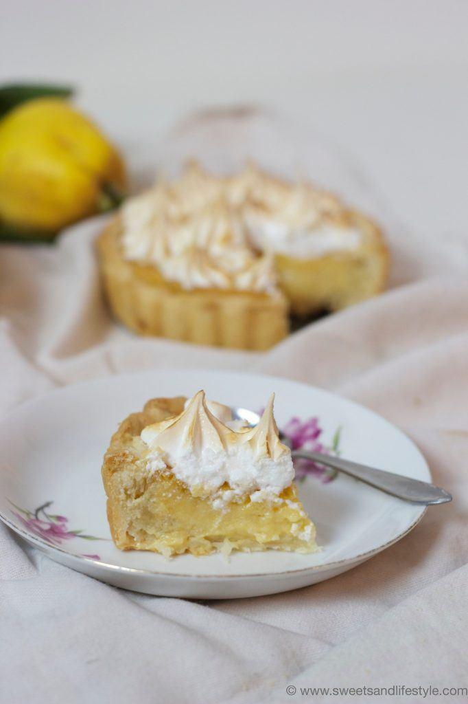 Köstliche Quittentarte mit Baiser, perfekt für den Herbst, von Sweets and Lifestyle