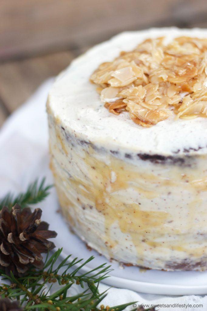 Schokotorte mit Florentiner als Weihnachtstorte von Sweets and Lifestyle