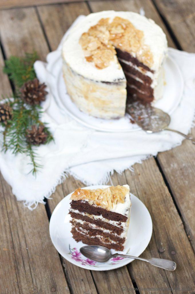 Schokotorte mit Karamell und Florentiner - eine süße weihnachtliche Verführung von Sweets and Lifestyle