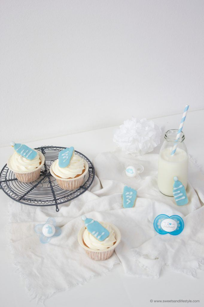 Baby Boy Cupcakes für die Babyparty von Sweets and Lifestyle