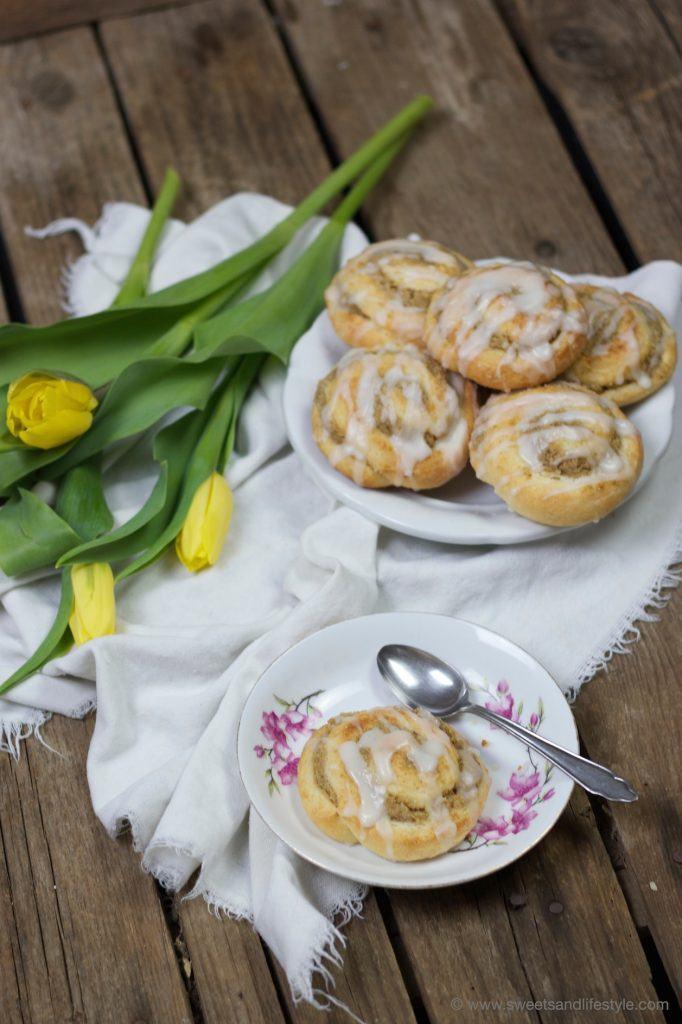 Nussschnecken mit Zuckerguss zur Kaffeejause von Sweets and Lifestyle