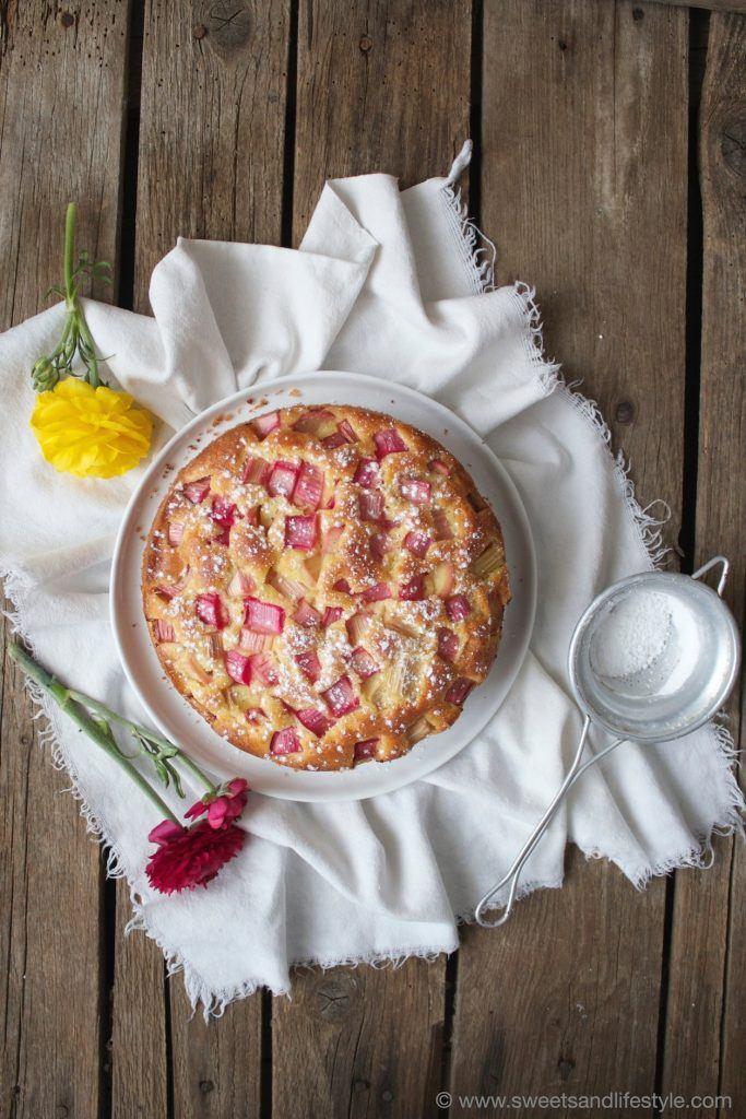 Rezept für einen Rhabarberkuchen mit Joghurt von Sweets