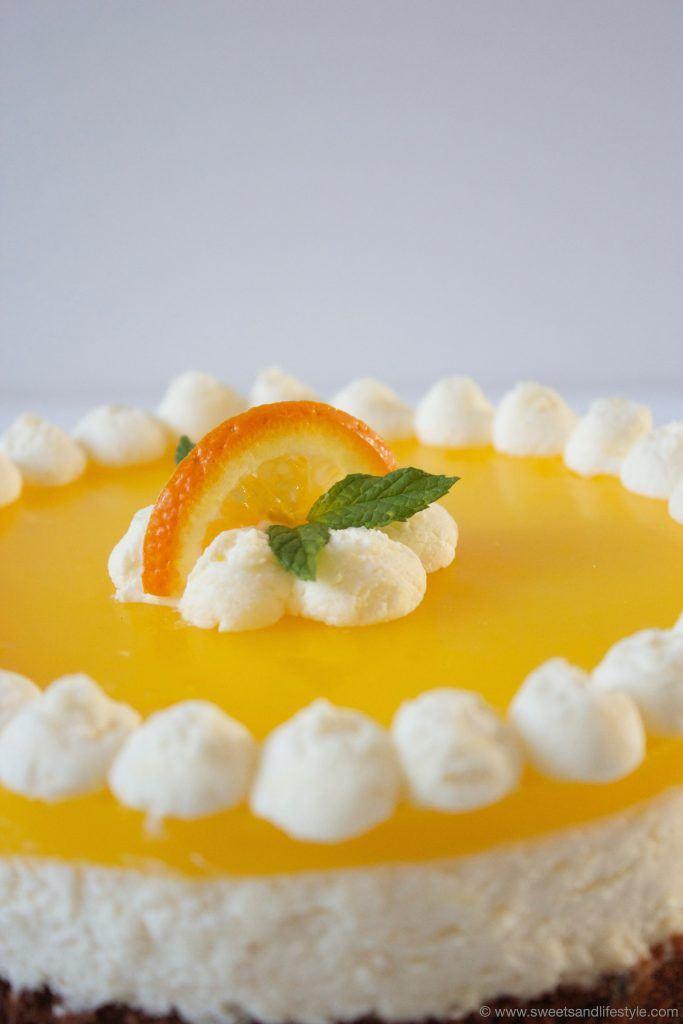 Erfrischende Schoko Topfen Orangen Torte von Sweets and Lifestyle