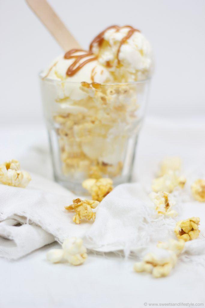 Caramel Pop Mikrowellen Popcorn für die Herstellung von Popcorneis von Sweets and Lifestyle