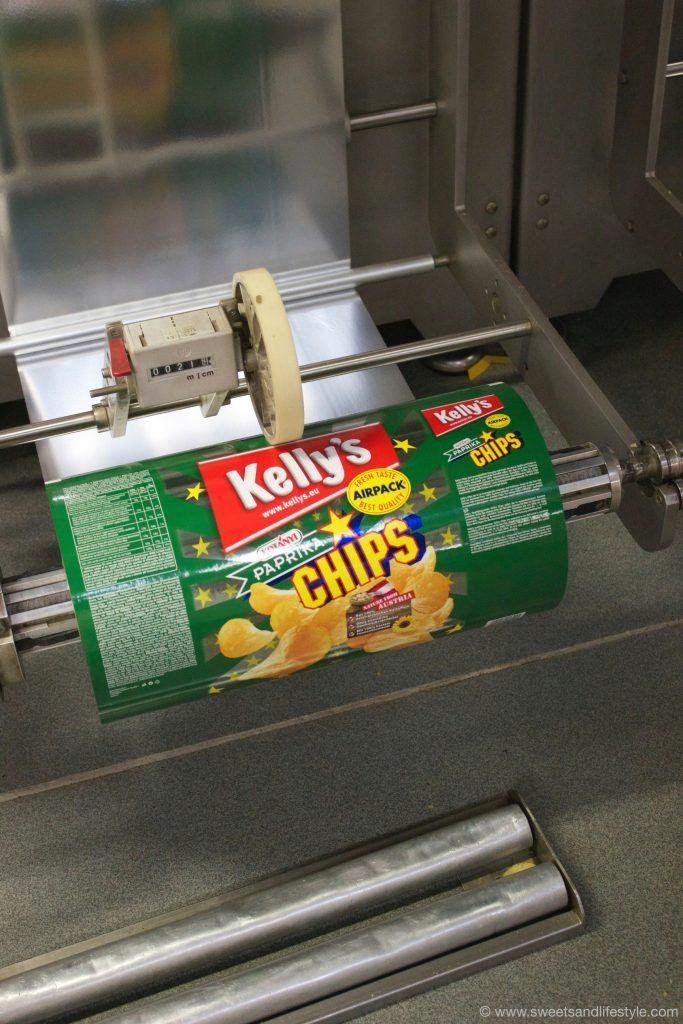 Verpackungsmaschine für Chips im Kelly Werk in Wien
