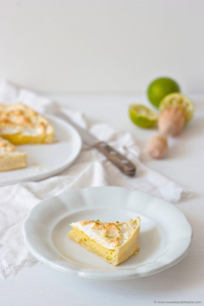 Ein Stück vom köstlichen, wunderbar süßen Pie de Limon nach einem Rezept von Sweets and Lifestyle