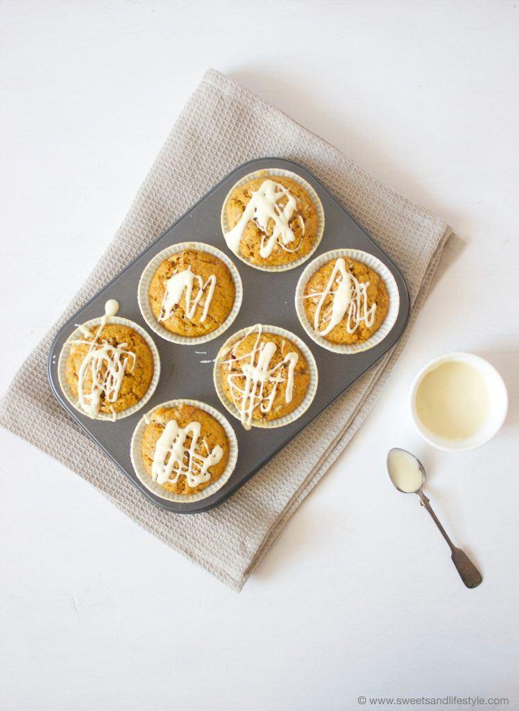 Saftige Kürbis Muffins mit weißer Schoko, perfekt für die Nachmittagsjause im Herbst, von Sweets and Lifestyle