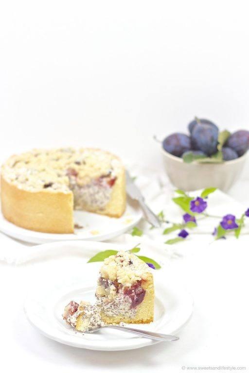 Zwetschgen Mohn Torte mit Streuseln, perfekt für die Kaffeejause im Herbst, nach einem Rezept von Sweets and Lifestyle