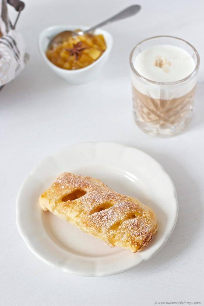Frische, leckere Apfeltaschen aus Blätterteig nach einem Rezept von Sweets and Lifestyle