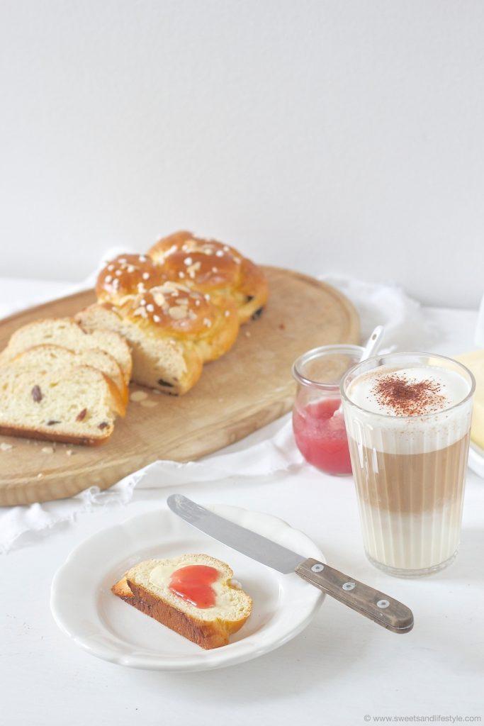 Köstlicher, selbst gemachter Brioche Striezel zum Frühstück von Sweets and Lifestyle