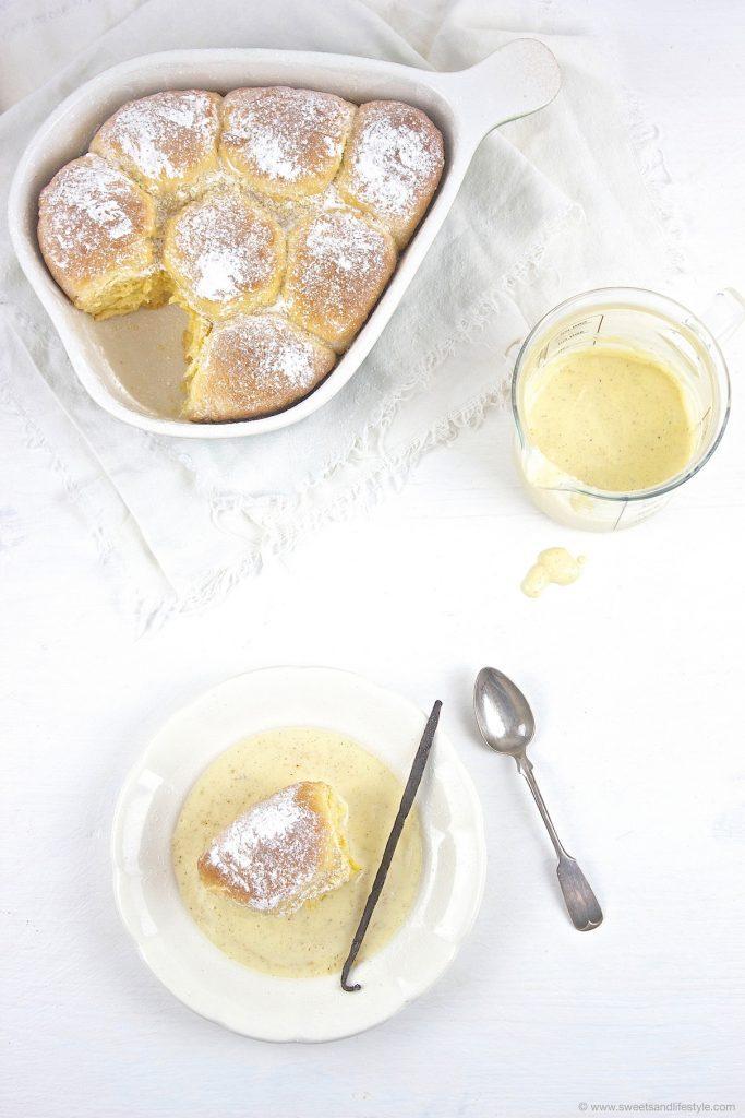 Frische Buchteln mit Vanillesauce nach einem Rezept von Sweets and Lifestyle