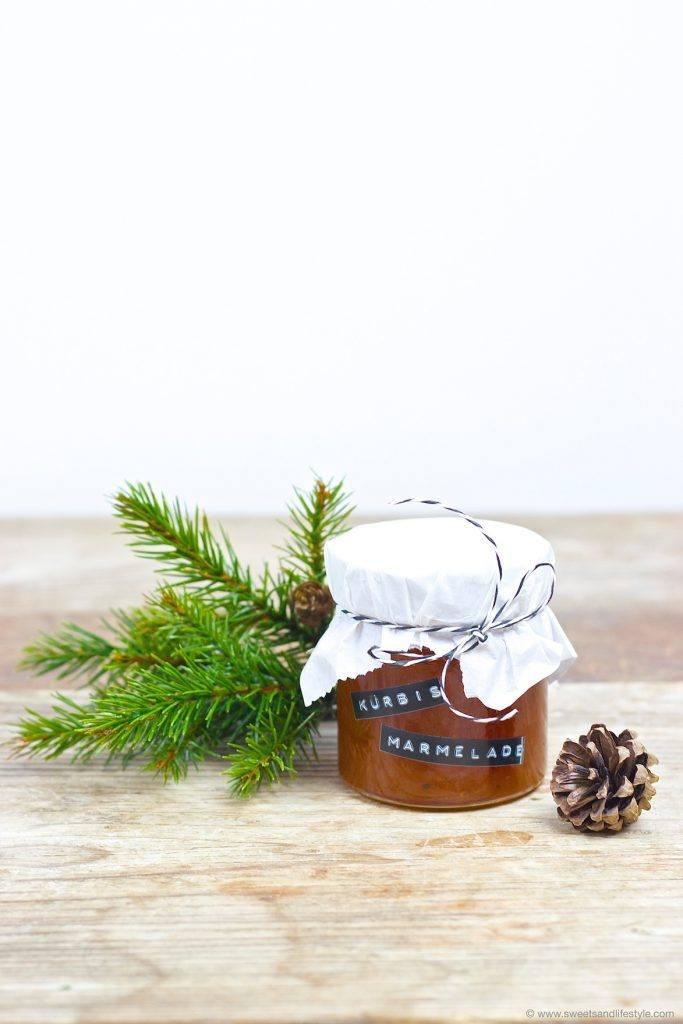 Leckere Kürbismarmelade als DIY Weihnachtsgeschenk für Freunde und Familie nach einem Rezept von Sweets and Lifestyle