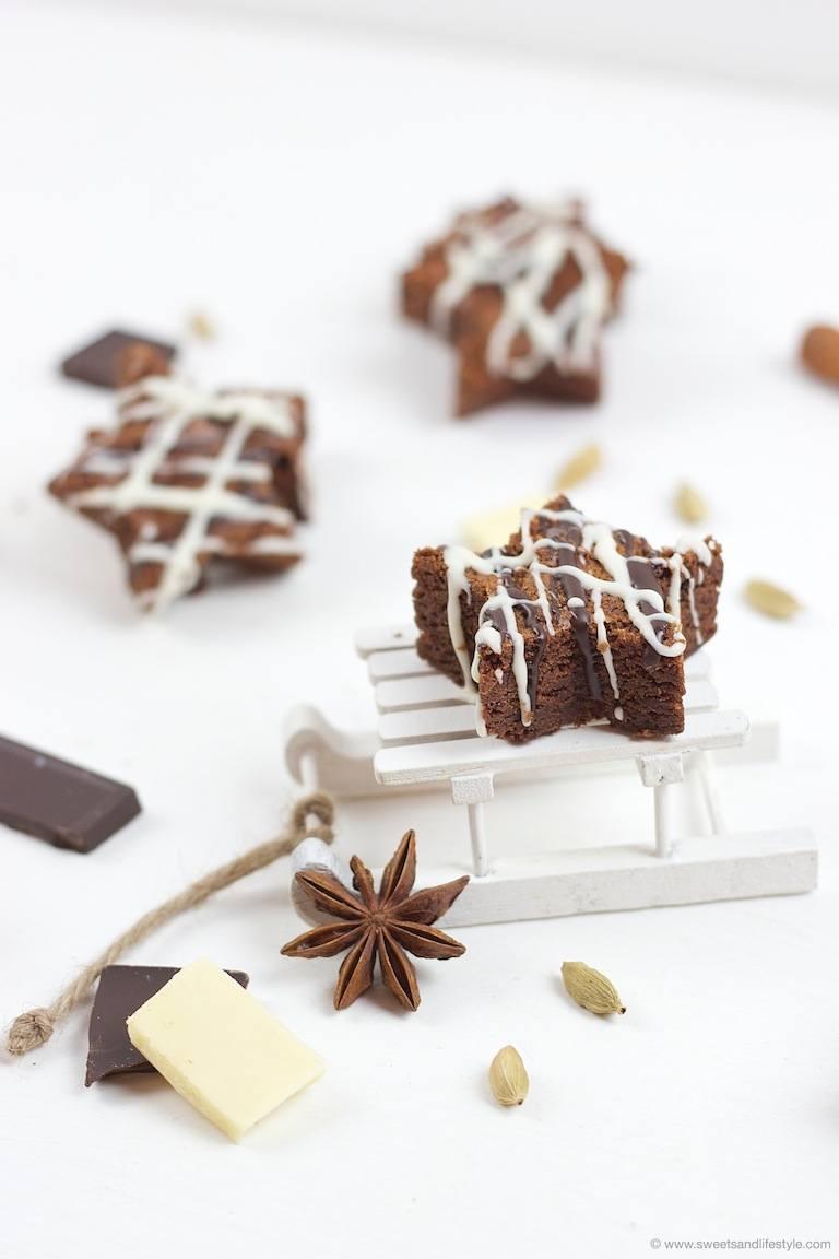 Weihnachtliche Schoko Brownie Sterne Backmischung Im Glas Rezept