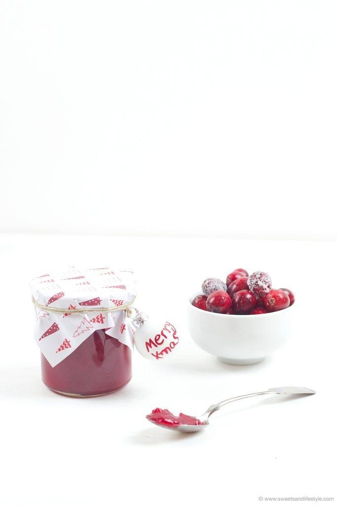 Cranberry Birnen Aufstrich nach einem Rezept von Sweets and Lifestyle