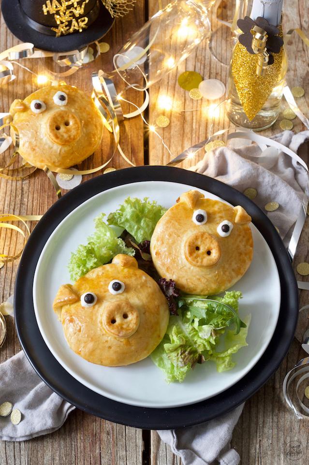 Pikant gefüllte Glücksschweine als Silvester Fingerfood von Sweets & Lifestyle®️