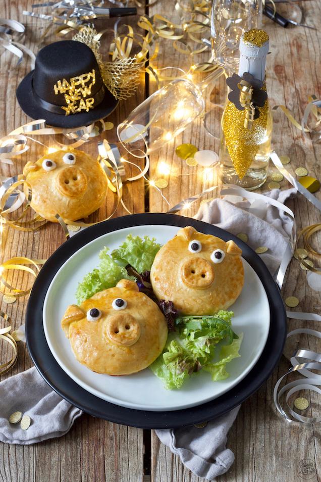 Pikant gefüllte Schweine als Glücksbringer und als Silvester Fingerfood von Sweets & Lifestyle®️