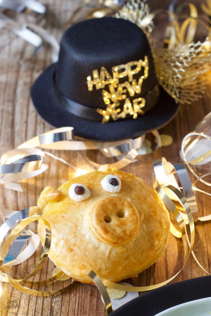Pikant gefülltes Glücksschwein als Silvester Fingerfood von Sweets & Lifestyle®️
