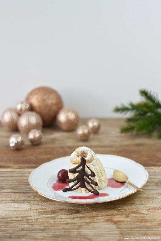 Köstliches Vanillekipferl Parfait als Nachspeise beim Weihnachtsdinner von Sweets and Lifestyle