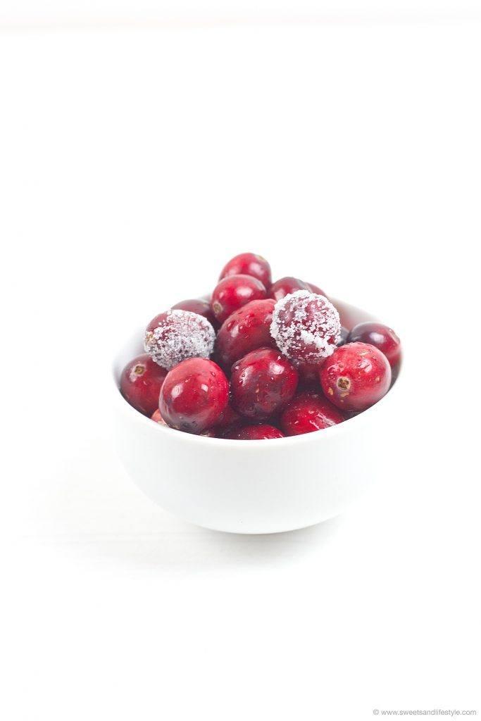 frische Cranberries fuer den Cranberry Birnen Aufstrich nach einem Rezept von Sweets and Lifestyle