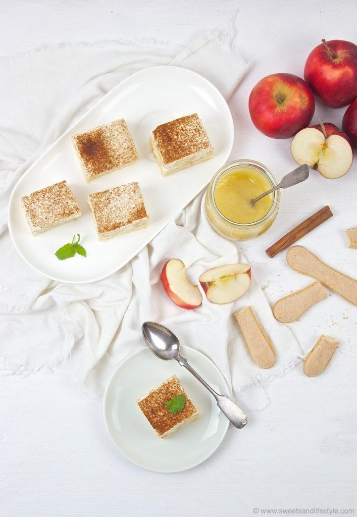 Saftige Apfelmusschnitten vom Blech mit selbst gemachten Apfelmus von Sweets and Lifestyle