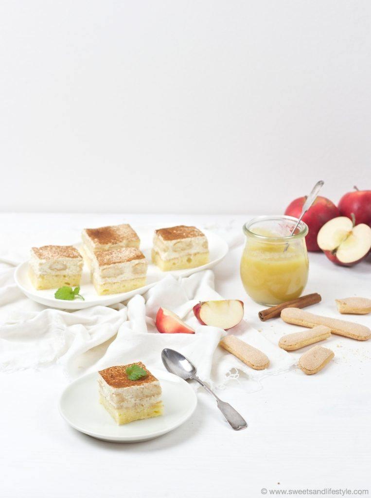 Leckere Apfelmusschnitten zum Nachmittagskaffee serviert von Sweets and Lifestyle