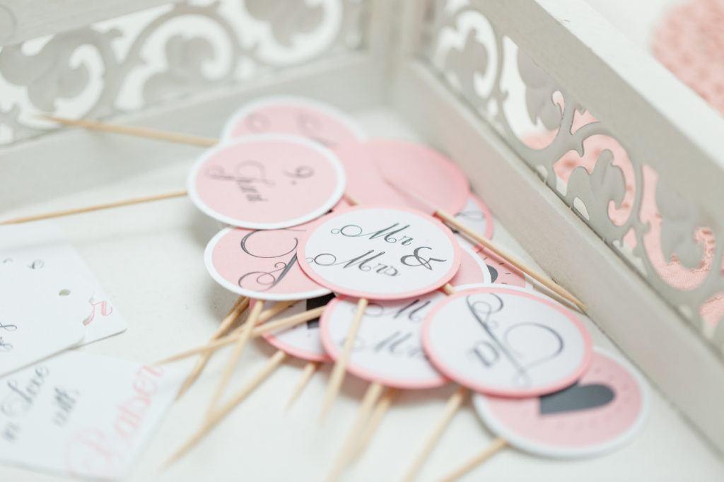 Cupcake Topper für Hochzeits Cupcakes von Sweets and Lifestyle