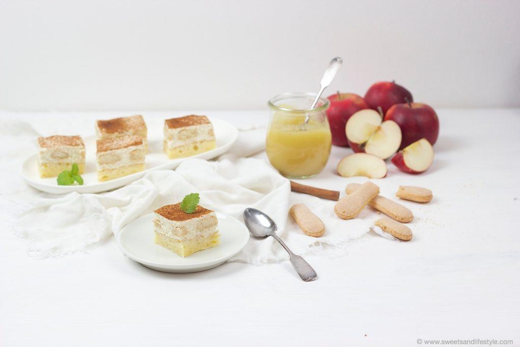 Koestliche fruchtig-frische Apfelmusschnitten mit selbst gemachten Apfelmus nach einem Rezept von Sweets and Lifestyle