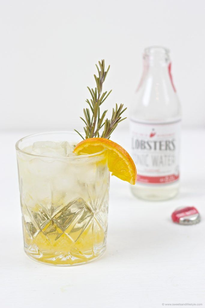 Prickelnder Gin Tonic Orange von Sweets and Lifestyle