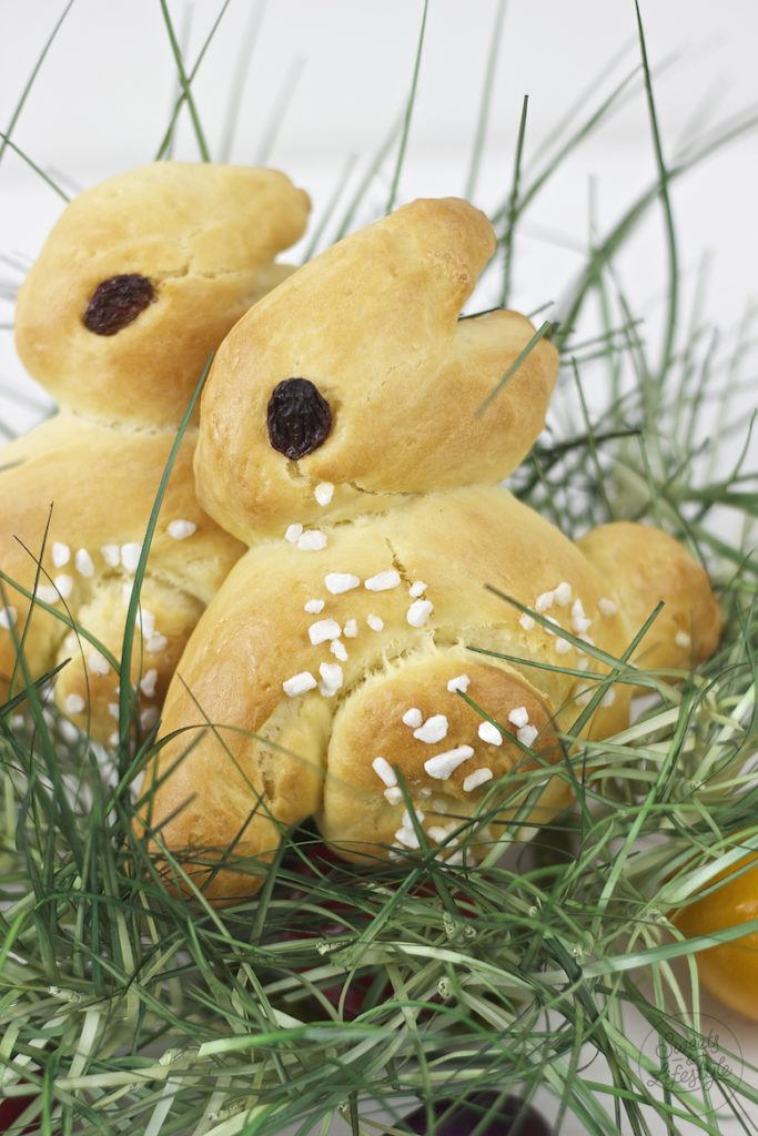 Selbst gemachter Brioche Osterhasen fuer die Osterjause von Sweets and Lifestyle