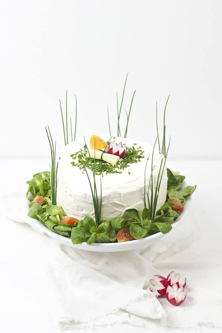 Vegetarische Sandwichtorte nach einem Rezept von Sweets and Lifestyle