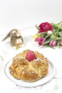Brioche Osternest nach einem Rezept von Sweets and Lifestyle