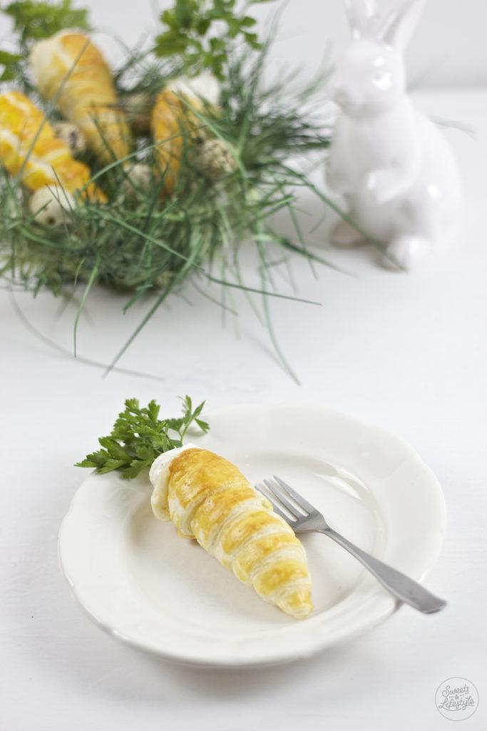 Pikant gefuellte Blaetterteig Karotte mit Petersilie von Sweets and Lifestyle