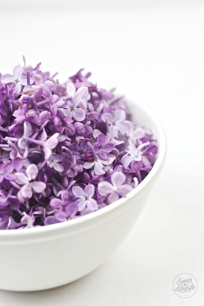 Frische Fliederblueten fuer den leckeren Fliederbluetensirup nach einem Rezept von Sweets and Lifestyle