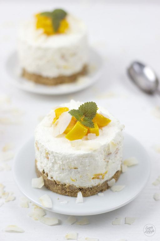 Leckere No Bake Mango Kokos Toertchen von Sweets and Lifestyle