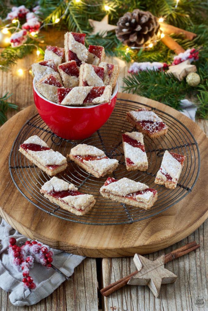 Weihnachtskekse Klassiker.Linzer Streifen Weihnachtskekse Sweets Lifestyle